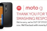moto g sold out