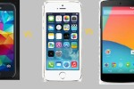 samsung galaxy s5 vs iphone5s vs Nexus 5