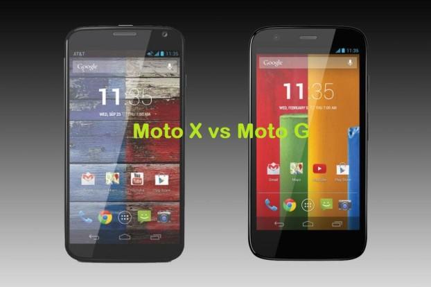 Moto X vs Moto G