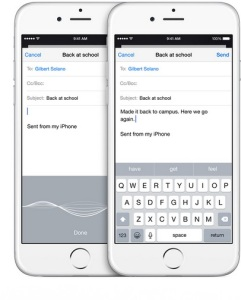 iOS 8 dictation