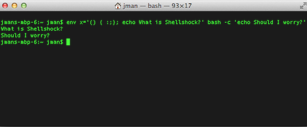 shellshock bash bug