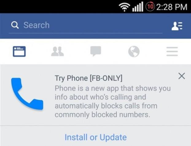 Facebook voice call